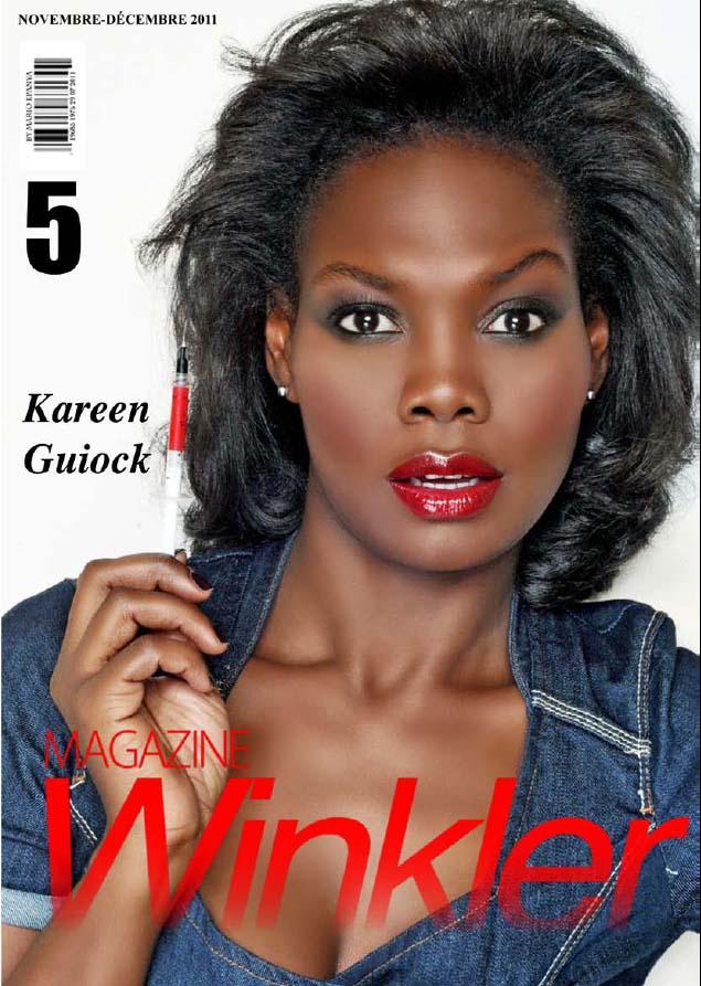 Kareen Guiock en couverture de Winkler Magazine n°5