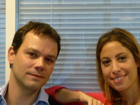 Léa Salamé & Marc Fauvelle - crédit photo : ©Damien D. / TéléSphère