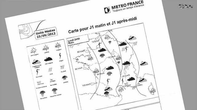 Carte fournie par Météo-France - ©TéléSphère