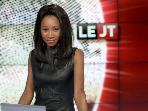 Kady Adoum-Douass au JT de Canal + - crédits photos : Maxime Bru