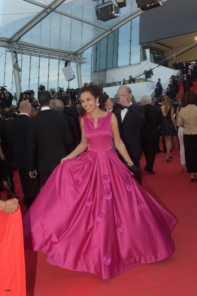Aïda Touihri sur le tapis rouge ©DR