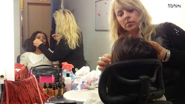 Samira Ibrahim et Caroline Surier au maquillage