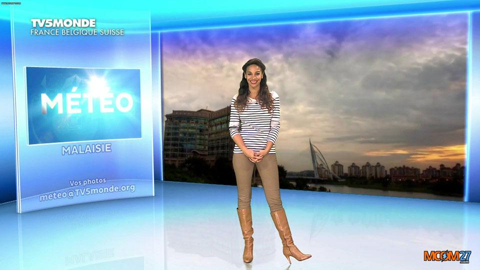 Alicia Fall présente la météo sur TV5Monde