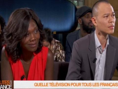 Kareen Guiock sur le plateau de Toutes les France