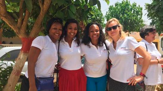 Les ambassadrices de l'AMREF au Sénégal