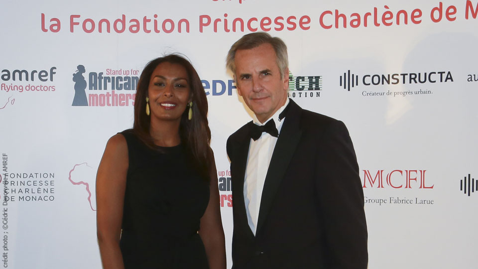 Samira Ibrahim et Bernard de la Villardière - crédit photo : Cédric Danonville / AMREF