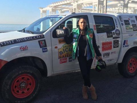 Audrey Chauveau sur le départ de Rallye