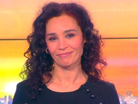 Aïda Touihri à la présentation de la matinale week-end d'i>TELE