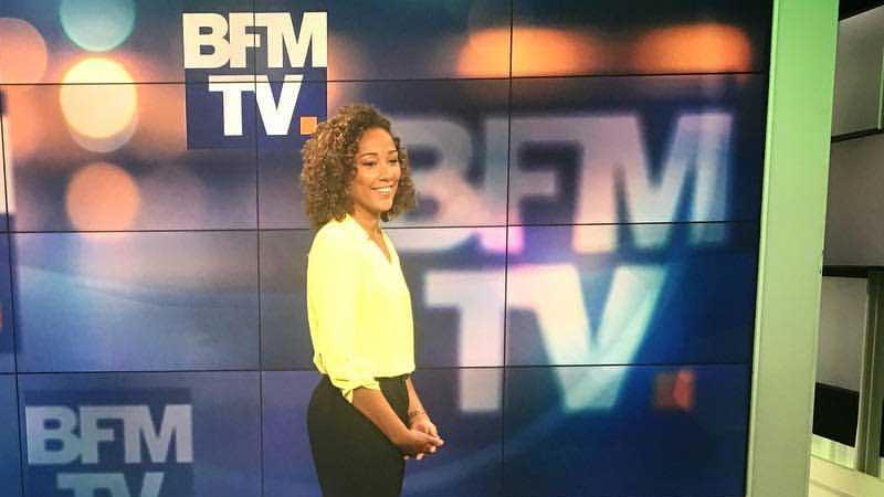 Virginie Sainsily sur le plateau de BFMTV