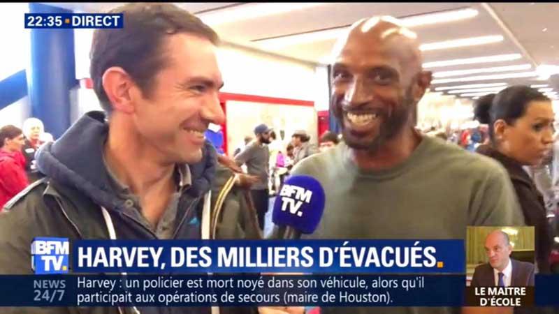 Cédric Faiche en pleine interview sur BFMTV