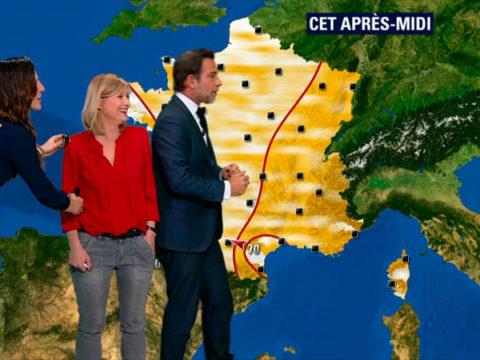 Daniela Prépéliuc, Kariend ee Ménonville et Ronald Guintrange à la présentation de la météo