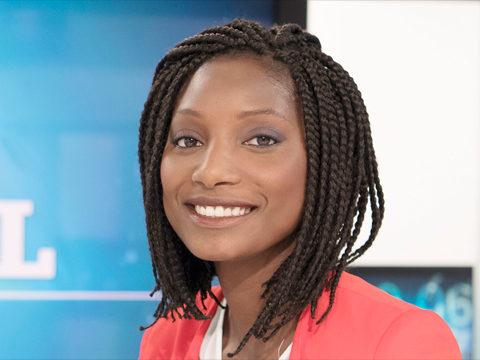 N'Fanteh Minteh sur le plataeu du Journal Afrique de TV5Monde