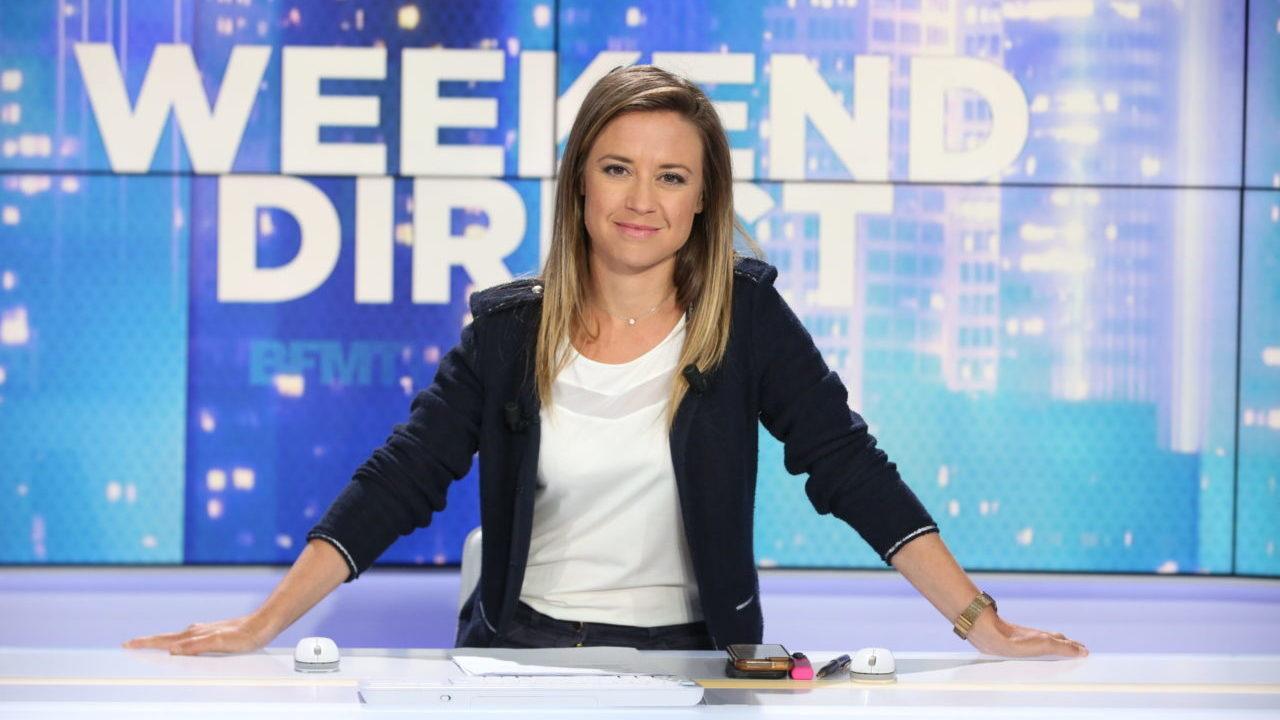 Céline Pitelet sur le plateau de Week-end Direct ©Abaca Presse/BFMTV