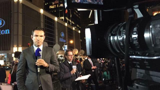 Cédric Faîche devant le QG de Donald Trump le 8 novembre 2016 - telesphere.fr